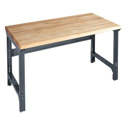 Edsal - 1009M - Bolted Workbench, Butcher Block, 30 Depth, 30-3/4 to 34-3/4 Height, 60 Width, 4000 lb. Load Capa