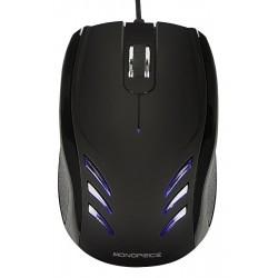 Monoprice - 9255 - Corded Mouse, Optical, Black, USB