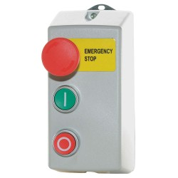Lovato Electric - IR-MS-120V25A-FH - Push Button Control Station, 4NO Contact Form, Number of Operators: 3