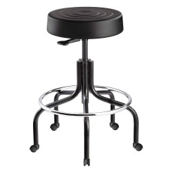 Bevco Precision - S3200-BLACK SEAT - Round Pneumatic Stool with 20 to 25 Seat Height Range and 300 lb. Weight Capacity, Black