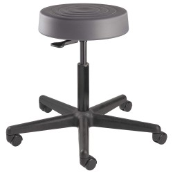 Bevco Precision - S3300-GRAPHITE SEAT - Round Pneumatic Stool with 21 to 28-1/2 Seat Height Range and 300 lb. Weight Capacity, Gray
