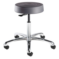 Bevco Precision - S3350-GRAPHITE SEAT - Round Pneumatic Stool with 20 to 27-1/2 Seat Height Range and 300 lb. Weight Capacity, Gray