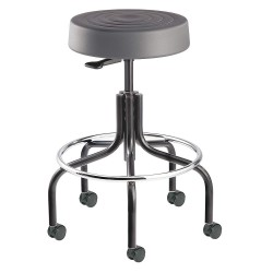 Bevco Precision - S3600-GRAPHITE SEAT - Round Pneumatic Stool with 25 to 30 Seat Height Range and 300 lb. Weight Capacity, Gray