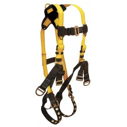 Falltech - G8006XL - Oil/Derrick Full Body Harness with 425 lb. Weight Capacity, Black/Yellow, XL