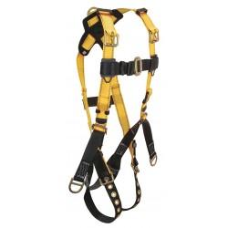 Falltech - G8011M - Oil/Derrick Full Body Harness with 425 lb. Weight Capacity, Black/Yellow, M