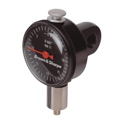 Brown & Sharpe Precision - 14.83013 - Balanced Reading Dial Indicator, AGD 1, 2.250 Dial Size, 0 to 0.035 Range