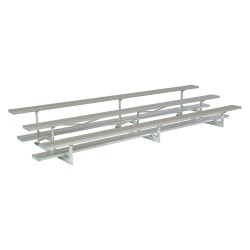 National Recreation Systems - NB-0315ASTD - 15 ft. Bleacher with 30 Seats in 3 Rows, Aluminum