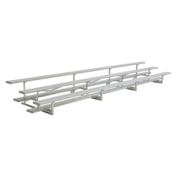 National Recreation Systems - NB-0324ASTD - 24 ft. Bleacher with 48 Seats in 3 Rows, Aluminum