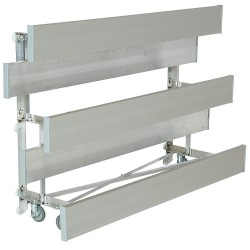 National Recreation Systems - TR-0307.5STD - 7-1/2 ft. Bleacher with 15 Seats in 3 Rows, Aluminum