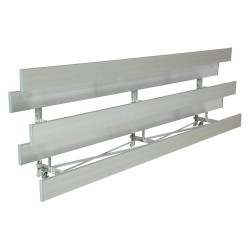 National Recreation Systems - TR-0309STD - 9 ft. Bleacher with 18 Seats in 3 Rows, Aluminum