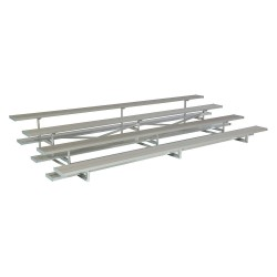 National Recreation Systems - NB-0415ALRSTD - 15 ft. Bleacher with 40 Seats in 4 Rows, Aluminum