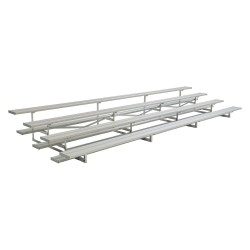 National Recreation Systems - NB-0424ALRSTD - 24 ft. Bleacher with 64 Seats in 4 Rows, Aluminum