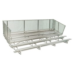 National Recreation Systems - NB-0524ASTD - 24 ft. Bleacher with 80 Seats in 5 Rows, Aluminum