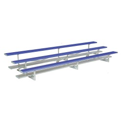 National Recreation Systems - NB-0327ASTD/PCB - 27 ft. Bleacher with 54 Seats in 3 Rows, Blue