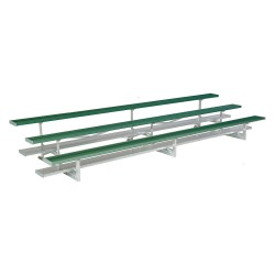National Recreation Systems - NB-0315ASTD/PCG - 15 ft. Bleacher with 30 Seats in 3 Rows, Green