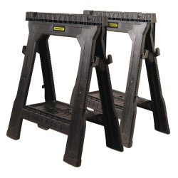 Stanley / Black & Decker - 060864R - Folding Sawhorse 27-1/2 L X 14-15/16 W, 31-1/2 Sawhorse Max. Height, Plastic