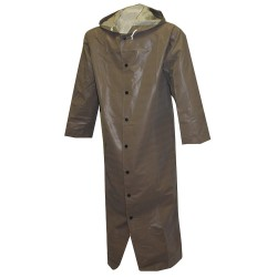 Tingley Rubber - C12168 - FR Rain Coat with Hood, S, Drab, 60 in. L