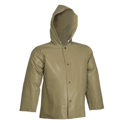 Tingley Rubber - J12148 - FR Rain Jacket with Hood, S, Drab, Neoprene