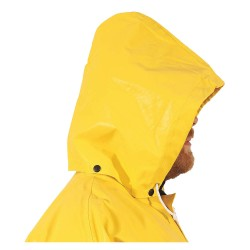 Tingley Rubber - H12107 - FR Rain Hood, L, Yellow, Neoprene, ASTMD6413