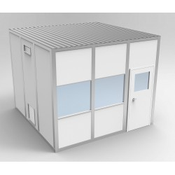 PortaFab - 6CR810 - Clnrm Modular In-Plant Office, 8x10x10ft