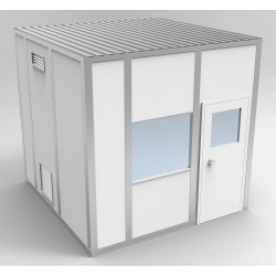 PortaFab - 6CR1010 - Clnrm Modular In-Plant Office, 10x10x10ft