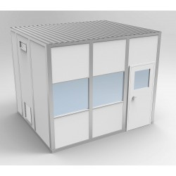 PortaFab - 6CR1012 - Clnrm Modular In-Plant Office, 10x12x10ft