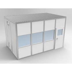 PortaFab - 6CR1016 - Clnrm Modular In-Plant Office, 10x16x10ft