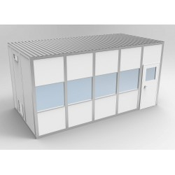 PortaFab - 6CR1020 - Clnrm Modular In-Plant Office, 10x20x10ft