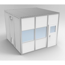 PortaFab - 6CR1212 - Clnrm Modular In-Plant Office, 12x12x10ft