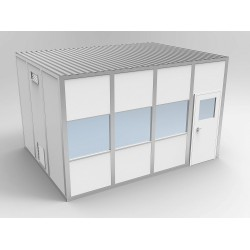 PortaFab - 6CR1216 - Clnrm Modular In-Plant Office, 12x16x10ft