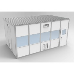 PortaFab - 6CR1220 - Clnrm Modular In-Plant Office, 12x20x10ft
