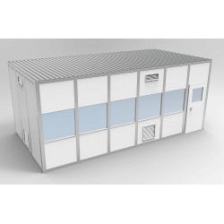 PortaFab - 6CR1224 - Clnrm Modular In-Plant Office, 12x24x10ft
