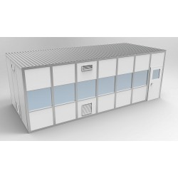 PortaFab - 6CR1228 - Clnrm Modular In-Plant Office, 12x28x10ft