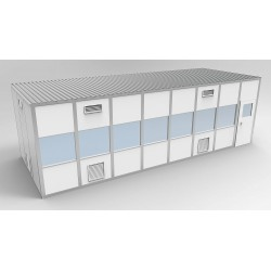 PortaFab - 6CR1232 - Clnrm Modular In-Plant Office, 12x32x10ft
