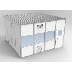 PortaFab - 6CR1616 - Clnrm Modular In-Plant Office, 16x16x10ft