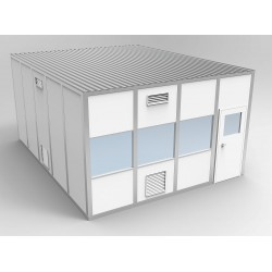 PortaFab - 6CR1620 - Clnrm Modular In-Plant Office, 16x20x10ft
