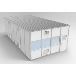 PortaFab - 6CR1632 - Clnrm Modular In-Plant Office, 16x32x10ft