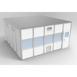 PortaFab - 6CR2020 - Clnrm Modular In-Plant Office, 20x20x10ft