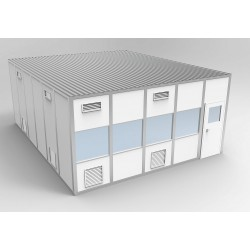 PortaFab - 6CR2024 - Clnrm Modular In-Plant Office, 20x24x10ft