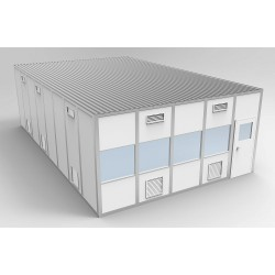 PortaFab - 6CR2032 - Clnrm Modular In-Plant Office, 20x32x10ft