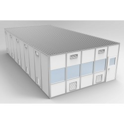 PortaFab - 6CR2040 - Clnrm Modular In-Plant Office, 20x40x10ft