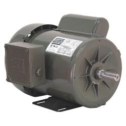 Weg - 00118ES1B56-S - 1 HP General Purpose Motor, Capacitor-Start/Run, 1745 Nameplate RPM, Voltage 115/208-230, Frame 56