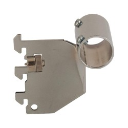 Econoco - BS/10 - Stubby Bracket, Silver with Chrome Finish, PK100