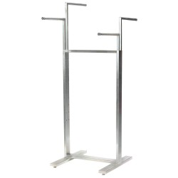 Econoco - BA47SC - Adjustable Rack, Silver with Satin Chrome Finish