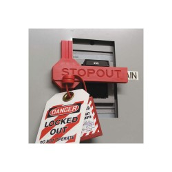 Accuform Signs - KDD280 - Circuit Breaker Lockout, 277/480/600, Slide-On Lockout Type, Plastic