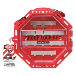 Accuform Signs - KCC624 - Red Plastic Group Lockout Box, Max. Number of Padlocks: 42, 4-1/2 x 14-1/2