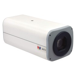 ACTi - I27 - 4MP Zoom Box Camera with D/N, Advanced WDR, SLLS, 30x Zoom lens, f4.3-129mm/F1.6-5.0, DC iris, H.264, 1080p/30fps, 2D+3D DNR, Audio, MicroSDHC, PoE/DC12V, DI/DO