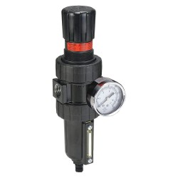 Parker Hannifin - 06E28B18AC - 3/8 NPT Filter/Regulator, 55 cfm Max. Flow, 250 psi Max. Pressure