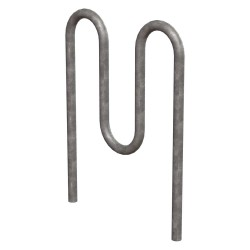 Madrax Trilary - H36-5-IG-G - Bike Rack, Galv, (5)Bikes, 46 in. H, 3 in. W