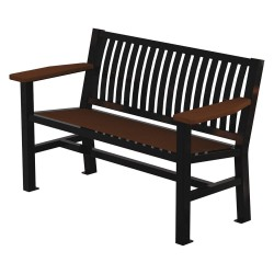 Graber Manufacturing - LVB-4-WI-B - Outdoor Bench, 54 in. L, 24 in. W, Black